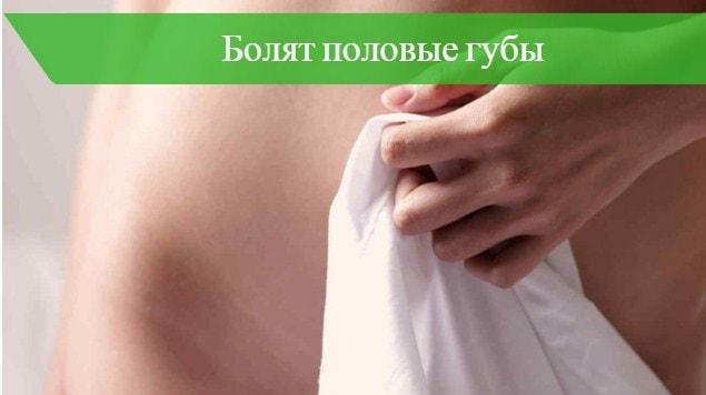 почему во время месячных болят половые губы