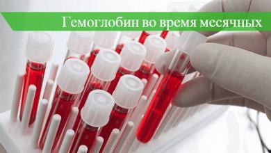 гемоглобин во время месячных на сколько падает
