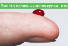вместо месячных капля крови